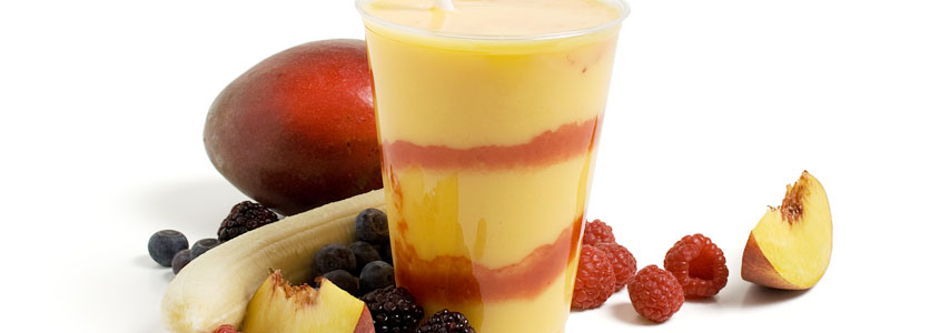 Visit our Coffee House and try a real fruit smoothie. Delicious!