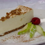Pear Brulee Cheesecake - A delicious Pear cheesecake topped with crumbled brulee caramel and cinnamon.  $35.00