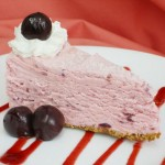 White Chocolate Cherry Brandy Cheesecake