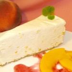 White Chocolate Peach Cheesecake