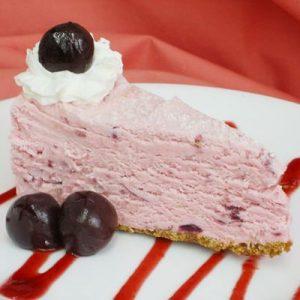 White Chocolate Cherry Brandy Cheesecake